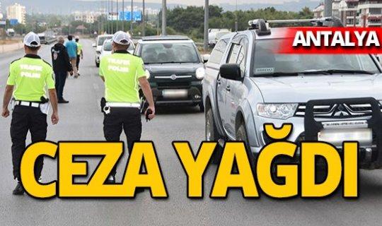 Antalya'da 7 bin 717 TL ceza!