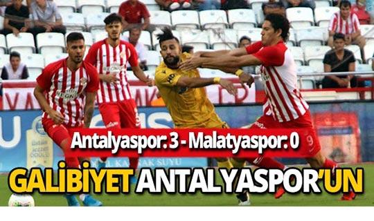 Antalyaspor şanssızlığını kırdı 3-0