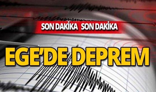 Bir deprem de Ege Denizi'nde!