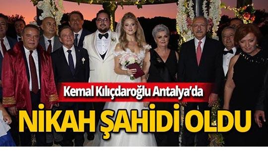 CHP lideri Kılıçdaroğlu, nikah şahidi oldu