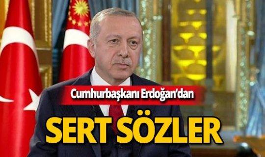 """Cumhurbaşkanı Erdoğan: """"Bu bir iftiradır, ahlaksızlıktır"""""""