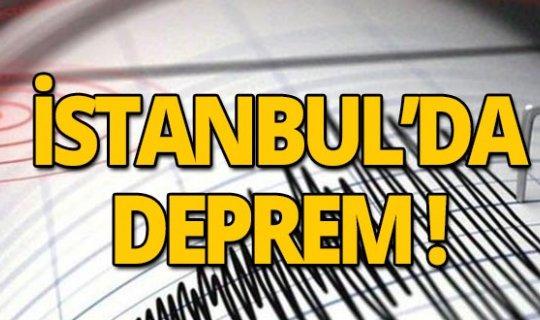 İstanbul'da yine deprem!