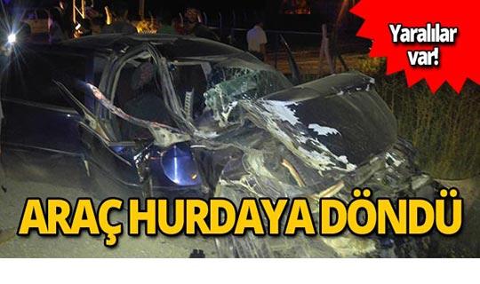 Kamyonetle otomobil çarpıştı: Yaralılar var!