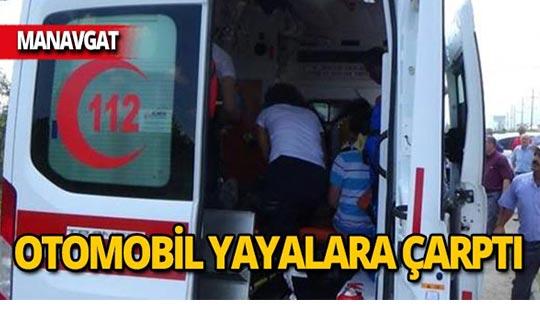 Karşıya geçerken otomobil çarptı: 2 yaralı!