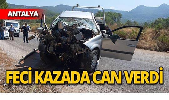 Kaza ölümle sonuçlandı
