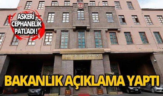 Milli Savunma Bakanlığı'ndan patlama açıklaması!