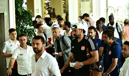 Sivasspor Adin Beach Hotel'i tercih etti