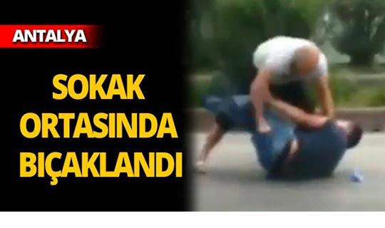 Sokak ortasında bıçaklı saldırı!
