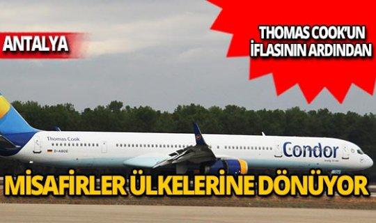 Thomas Cook'un Antalya'daki misafirlerinden 20 bini gitti