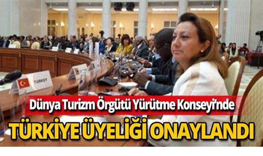 Türkiye'nin Yürütme Konseyi üyeliği onaylandı.