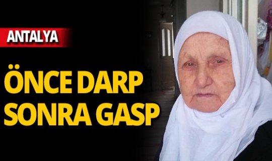 Yaşlı kadını dövdü, 'öldü' sanıp kaçtı