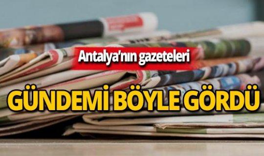 10 Ekim 2019 Antalya'nın yerel gazete manşetleri