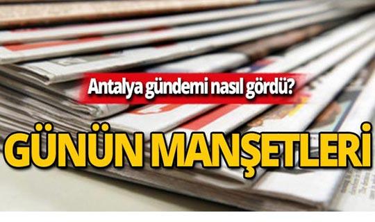 11 Ekim 2019 Antalya'nın yerel gazete manşetleri