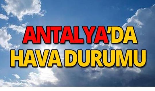12 Ekim 2019 Antalya hava durumu