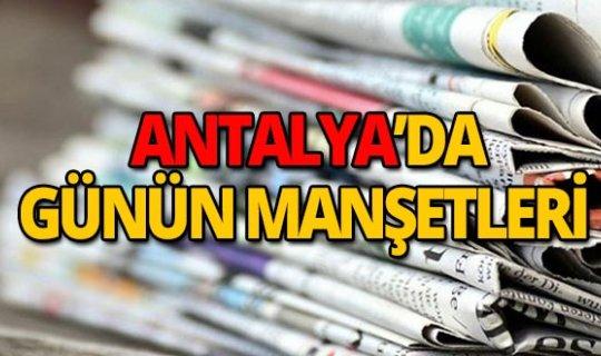 12 Ekim 2019 Antalya'nın yerel gazete manşetleri