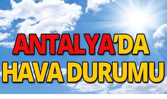 13 Ekim 2019 Antalya hava durumu
