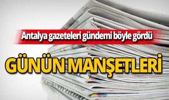 16 Ekim 2019 Antalya'nın yerel gazete manşetleri
