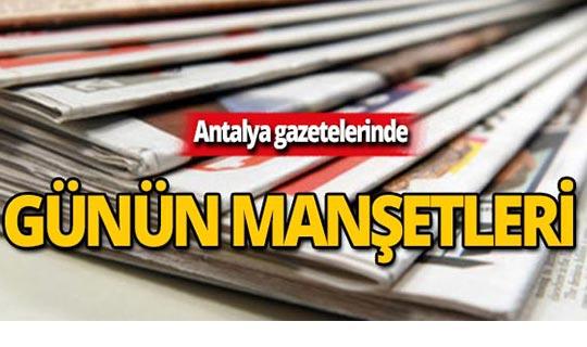 17 Ekim 2019 Antalya'nın yerel gazete manşetleri