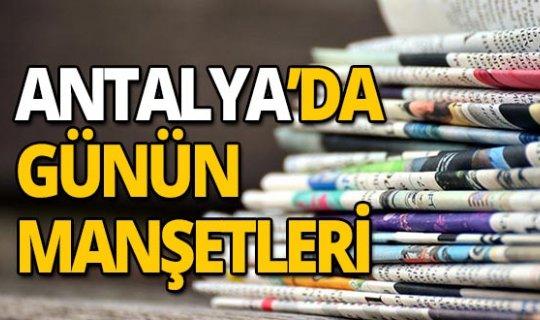 18 Ekim 2019 Antalya'nın yerel gazete manşetleri
