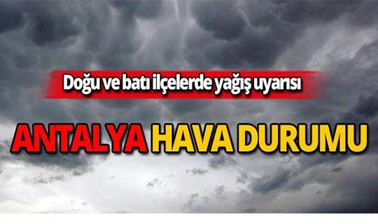 19 Ekim Antalya hava durumu