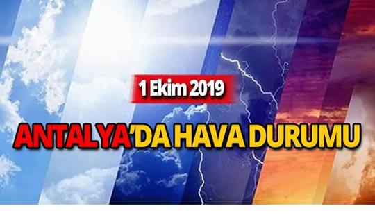 1 Ekim 2019 Antalya hava durumu