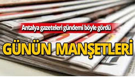 21 Ekim 2019 Antalya'nın yerel gazete manşetleri