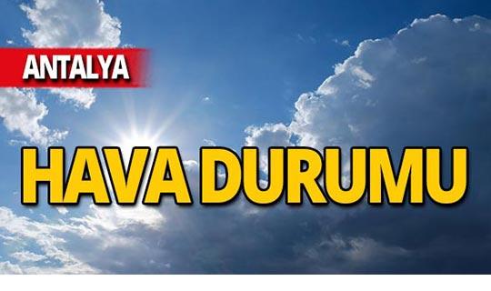 22 Ekim Antalya hava durumu