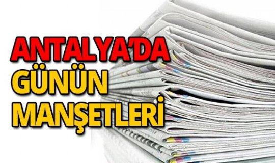 24 Ekim 2019 Antalya'nın yerel gazete manşetleri