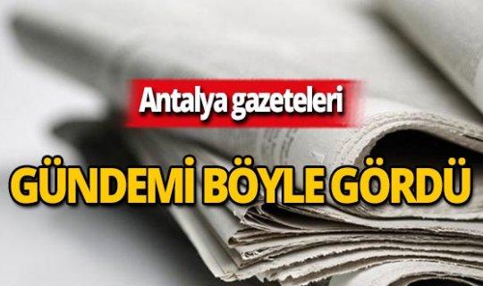 25 Ekim 2019 Antalya'nın yerel gazete manşetleri