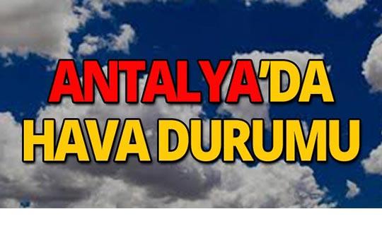 26 Ekim Antalya hava durumu