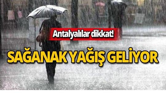 29 Ekim Antalya hava durumu