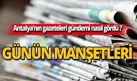 2 Ekim 2019 Antalya'nın yerel gazete manşetleri