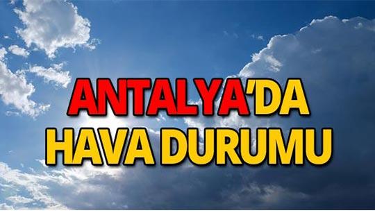 2 Ekim Antalya hava durumu