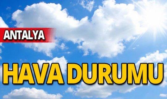 30 Ekim Antalya hava durumu