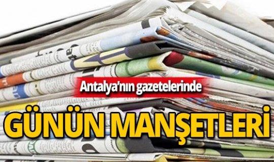 31 Ekim 2019 Antalya'nın yerel gazete manşetleri