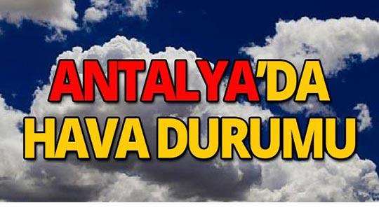 31 Ekim Antalya hava durumu