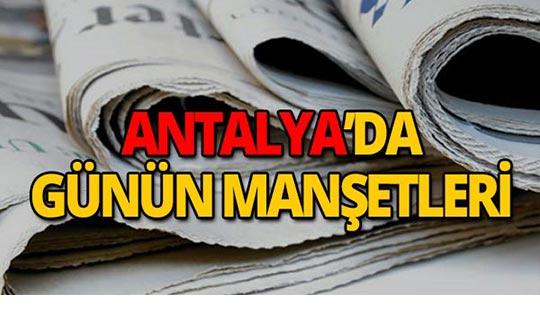 3 Ekim 2019 Antalya'nın yerel gazete manşetleri