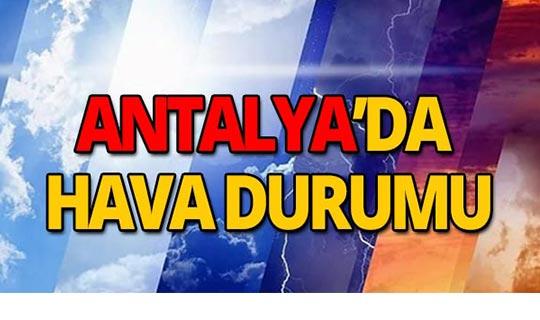 4 Ekim 2019 Antalya hava durumu