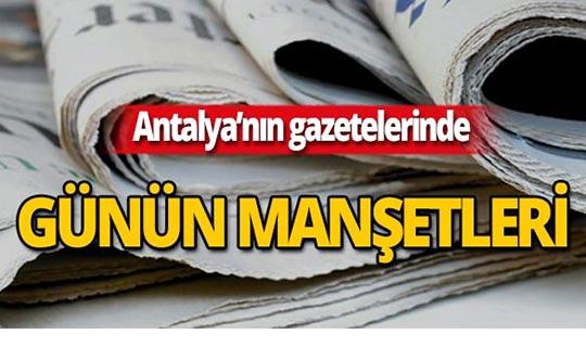 4 Ekim 2019 Antalya'nın yerel gazete manşetleri