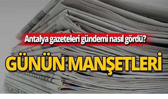 5 Ekim 2019 Antalya'nın yerel gazete manşetleri