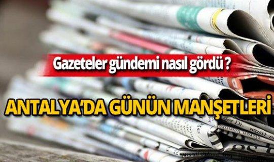7 Ekim 2019 Antalya'nın yerel gazete manşetleri