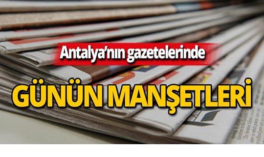 9 Ekim 2019 Antalya'nın yerel gazete manşetleri