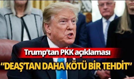 """ABD Başkanı Trump: """"PKK, DEAŞ'tan daha kötü bir terör tehdidi"""""""