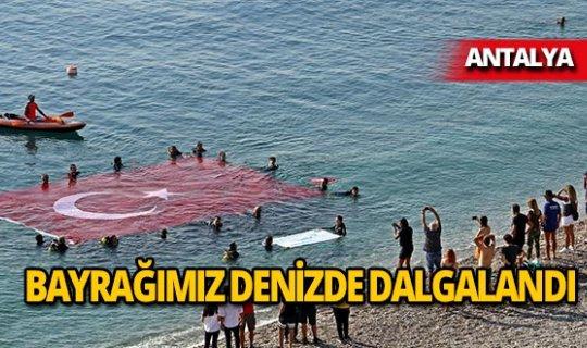 Akdeniz sularında Türk bayrağı dalgalandı