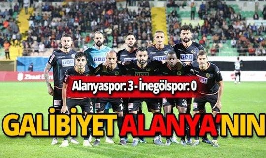 Alanyaspor İnegölsporu'u 3-0 mağlup etti
