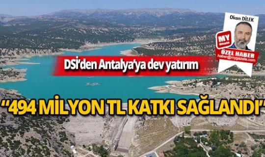 Antalya'da 464 bin 739 dekartarım arazisi sulandı
