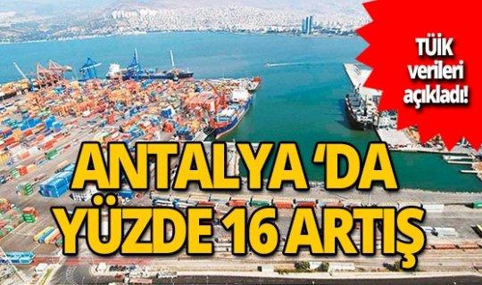Antalya'da ihracat arttı!