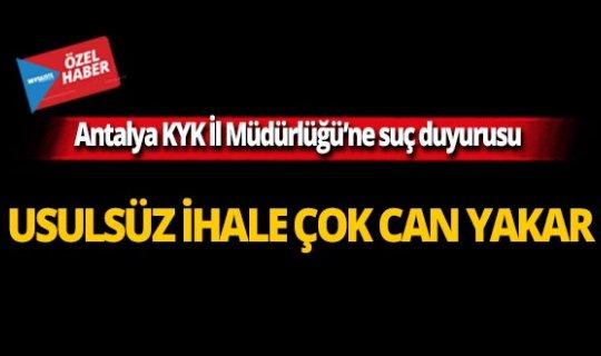 Antalya KYK İl Müdürlüğü'ne suç duyurusu