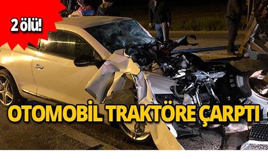 Araç hurdaya döndü: 2 ölü!