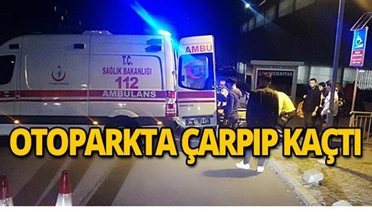 AVM otoparkında çarpılan genç yaralandı!